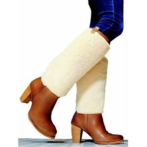 UGG Women's Ava Sheepskin and Leather Tall Boots 8